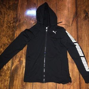 black puma zip us sweatshirt